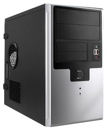 "IN WIN EMR009 450W Black/silver - Mini-Tower • mATX • БП 450 Вт • Отсеки: 5.25""-2, 3.5""(внеш)-2; 3.5""(внутр)-5; EMR009BS"