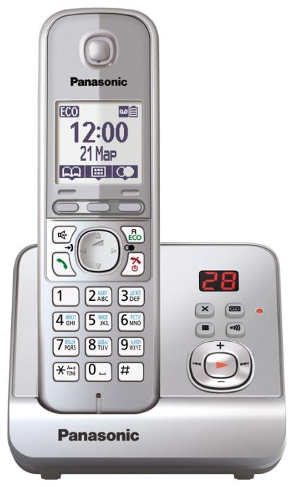 Радиотелефон DECT Panasonic KX-TG6721RUS Silver