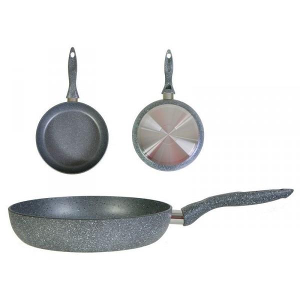 """Сковорода Stone Pan с """"эффектом мрамора"""" ST-004"""