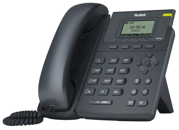 Yealink SIP-T19P E2 - (SIP: есть, Hands Free: есть, LCD-дисплей: монохромный, интерфейсы: WAN, LAN)