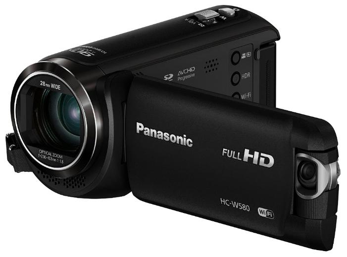 """Panasonic HC-W580EE-K - (ЖК-экран: есть (3"""", 460800 пикс.). Сенсорный дисплей: есть. Общее число пикселей: 2.51 Мпикс. Макс. разрешение фотосъемки: 1920x1080 пикс)"""