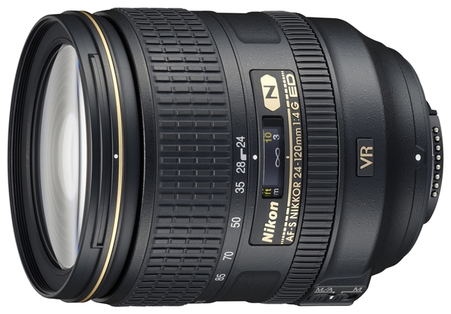 Nikon 24-120mm f/4G ED VR II AF-S Nikkor - стандартный; ФР 24 - 120 мм; ZOOM 5x; F4 • Автофокус есть. JAA811DA