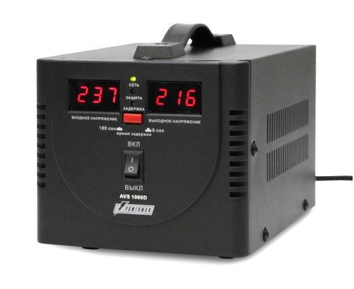 Стабилизатор напряжения Powerman AVS 1000D, Black