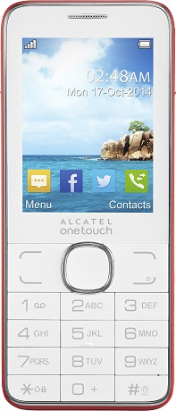 Alcatel One Touch 2007D, White/Red - (2.4 дюйм., 320x240, 16 Мб, microSD (TransFlash), объемом до 8 Гб, кол-во SIM-карт: 2, фотокамера: 3 млн пикс.)