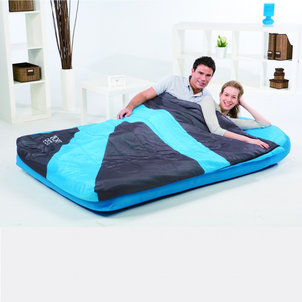 Кровать надувная Bestway 2местн. Флок+спальник 67436 191х137х22см