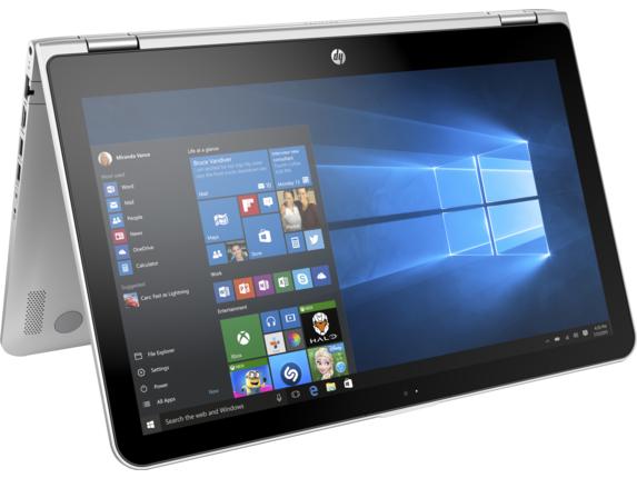 HP Pavilion x360 15-bk001ur (W7T21EA) - (Intel Core i5-6200U / 2.30 - 2.80 ГГц. Экран 15.6 дюймов, 1920x1080, широкоформатный TFT IPS мультисенсорный. ОЗУ 4 Гб DDR3 1600 МГц. Накопители HDD 500 Гб; DVD нет. GPU Intel Iris Graphics (интегрированный). ОС MS Windows 10 Home (64-bit))