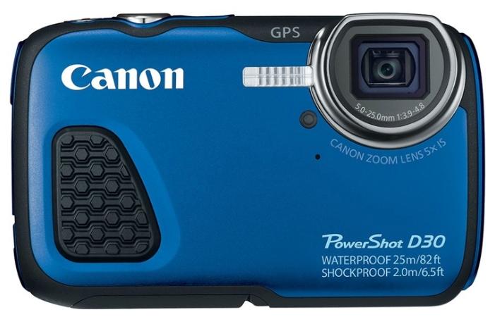 Canon PowerShot D30 - (13 млн, оптический zoom: 5x, 1920x1080, 1.9 кадр./сек, 461000 точек, 3 дюйма)