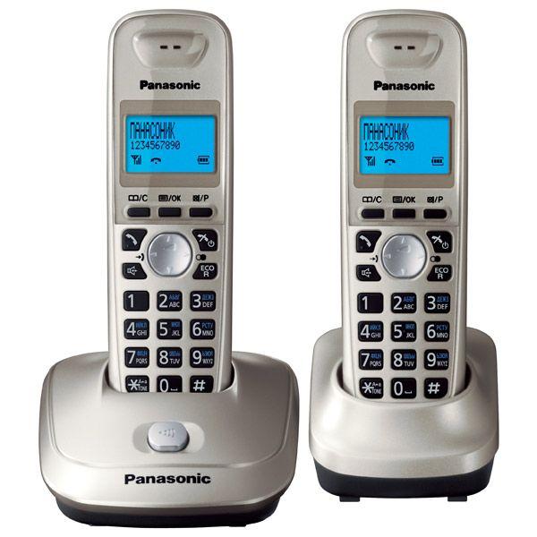 Радиотелефон Panasonic KX-TG2512RUN , gold