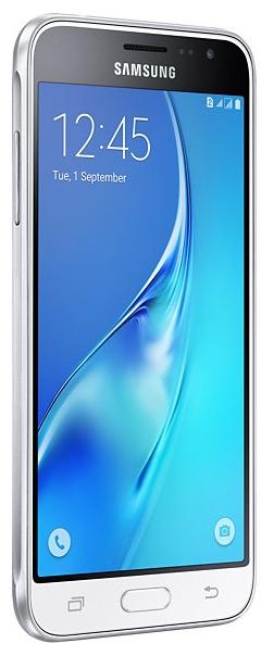 SAMSUNG Galaxy J3 (2016) SM-J320F White - (Android; GSM 900/1800/1900, 3G, 4G LTE; SIM-карт 2 (Micro SIM); 1500 МГц; RAM 1.50 Гб; ROM 8 Гб; 2600 мА?ч; 8 млн пикс., светодиодная вспышка; есть, 5 млн пикс.; датчики - приближения)
