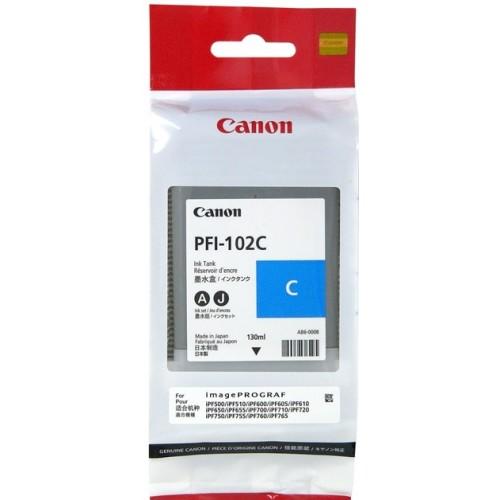 Картридж струйный Canon PFI-102 C, light blue 0896B001