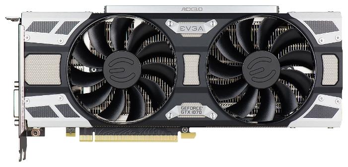 ���������� EVGA GeForce GTX 1070 1594Mhz PCI-E 3.0 8192Mb 8008Mhz 256 bit DVI HDMI HDCP 08G-P4-6173-KR