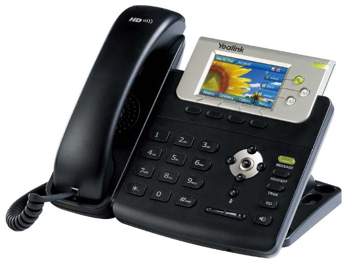 VoIP-телефон Yealink SIP-T32G, WAN, LAN, Gigabit LAN, есть определитель номера