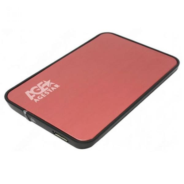 Корпус для жесткого диска AgeStar 3UB2A8 Red