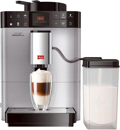 MELITTA Passione Onetouch (F 531-101), grey - эспрессо, автоматическое приготовление; кофе - зерновой; нагреватель - термоблок; резервуар