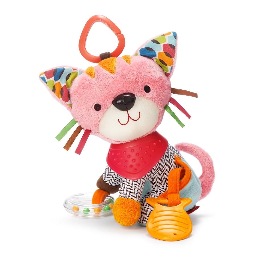 Skip Hop Bandana Pals - Kitty - Развивающая игрушка-подвеска • для развития у ребёнка моторики рук