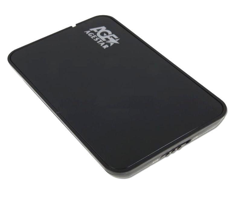 Корпус для жесткого диска AgeStar SUB2A8 (USB 2.0, 2.5'', SATA), Black