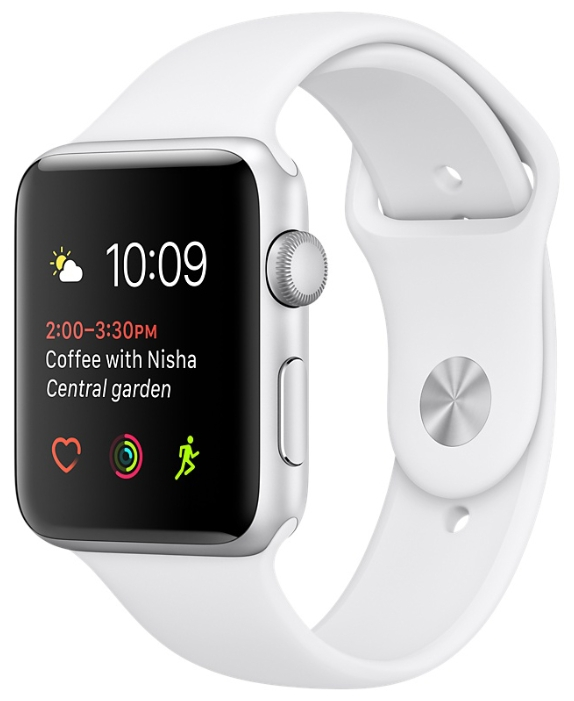 Смарт-часы Apple Watch Series 1 42mm Silver Al/White MNNL2RU/A