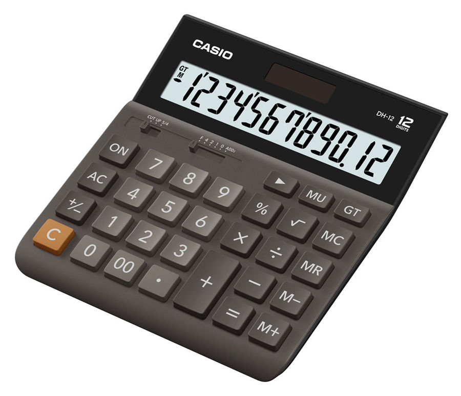 Калькулятор Casio DH-12 коричневый DH-12-BK-S-EH
