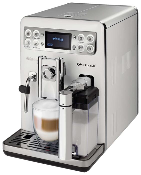 Saeco HD8859/01 - эспрессо, автоматическое приготовление; кофе - молотый / зерновой; нагреватель - бойлер; резервуар 1.5 л; макс.давление