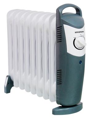 Радиатор масляный Hyundai H-HO1-09-UI889, white/ grey