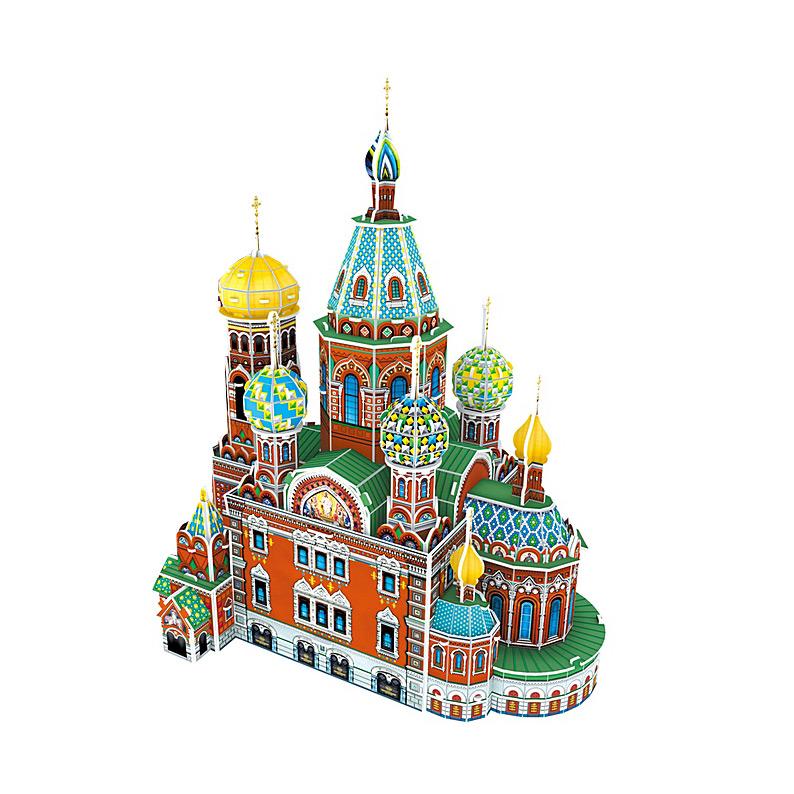 Паззл CubicFun Собор Воскресения Христова (Россия)