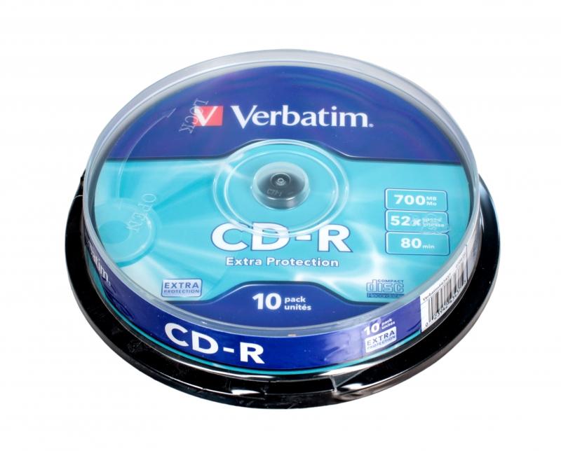 CD-диск Verbatim 700МБ 52x Cake Box (10шт) 43437