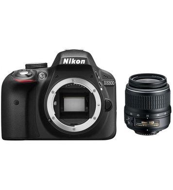 Фотоаппарат Nikon D3300 KIT (AF-P DX 18-55mm VR), Black VBA390K008