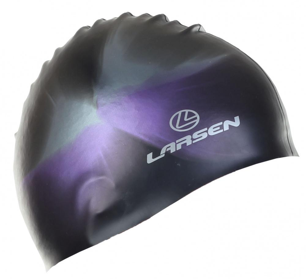 Шапочка плавательная Larsen MC31, силикон, черный