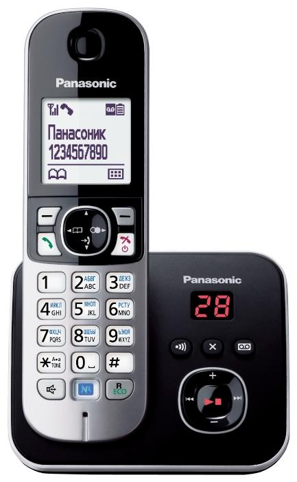 Радиотелефон DECT Panasonic KX-TG6821RUB Black/Silver