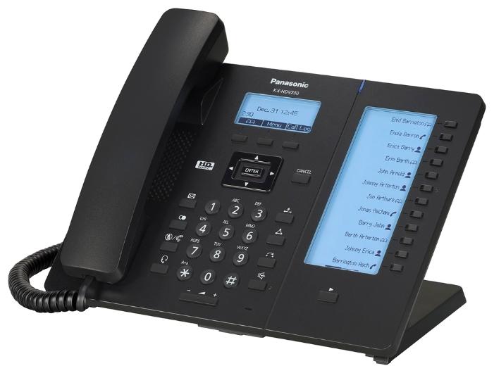 VoIP-телефон Panasonic KX-HDV230RU black, WAN, LAN, Gigabit LAN, 6 линии, есть определитель номера KX-HDV230RUB