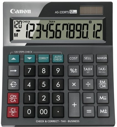 Калькулятор Canon AS-220RTS, 12-разрядный