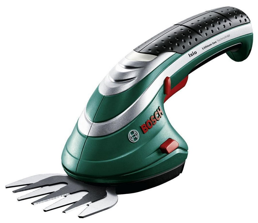 BOSCH ISIO 3 [0.600.833.100] - (Кусторез электрический; Нож(и) д/травы - ширина 8 см; питание - аккумулятор (Li-lon, 1.5 Ач, 3.6 В); ~50 часов • для подрезки травы)