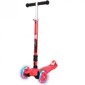 Y-Scoo 35 Maxi Fix Shine (светящиеся колёса) red