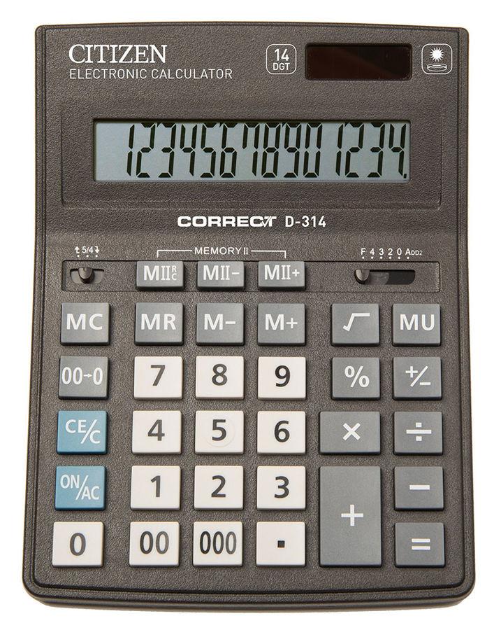 Калькулятор Citizen Correct D-314 чёрный