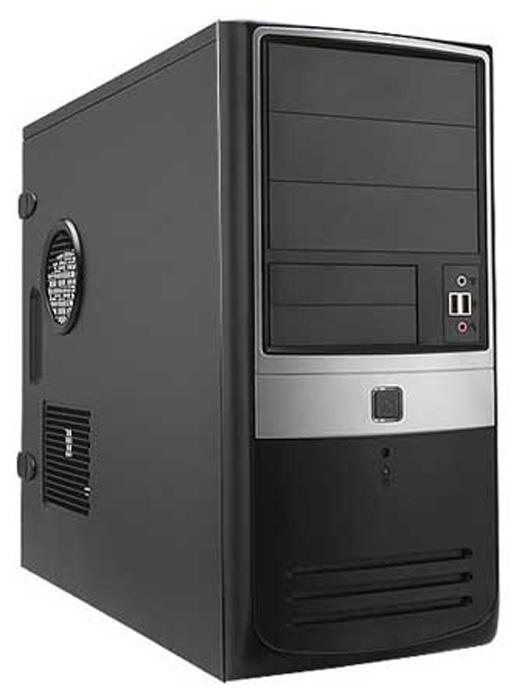 "InWin EAR003 450W Black/silver - Middle Tower • ATX, mATX • БП 450 Вт • Отсеки: 5.25""-3, 3.5""(внеш)-2; 3.5""(внутр)-6; EAR003BS"