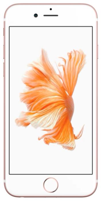 Apple iPhone 6S 64Gb, Rose Gold - (iOS 9; GSM 900/1800/1900, 3G, 4G LTE, LTE-A; SIM-карт 1 (nano SIM); Apple A9; ROM 64 Гб; 12 млн пикс., встроенная вспышка; есть, 5 млн пикс.; датчики - освещенности, приближения, гироскоп, компас, барометр, считывание отпечатка пальца)