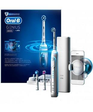 Зубная щётка электрическая Oral-B Braun PRO 8000 Genius, White PRO 8000 Genius White