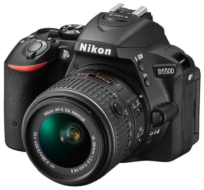 Фотоаппарат Nikon D5500 KIT (AF-S DX 18-55mm VR), black VBA440K006