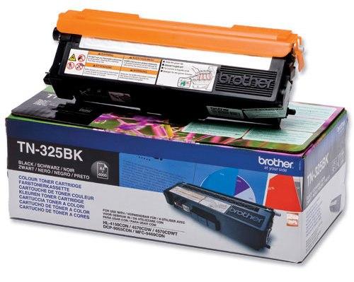 Brother TN-325BK - чёрный; на 4000 страниц • Brother HL-4140CN, HL-4150CDN, HL-4570CDW, HL-4570CDWT, DCP-9055CDN, DCP-9270CDN, MFC-9460CDN,