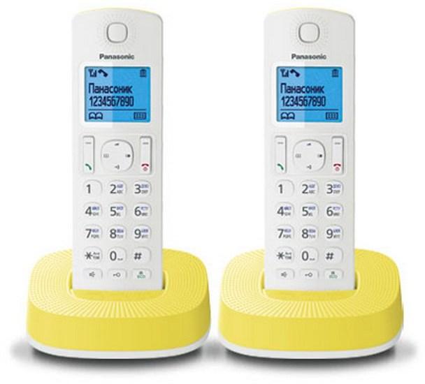 Радиотелефон DECT Panasonic KX-TGС312RUR White/Yellow KX-TGC312RUY