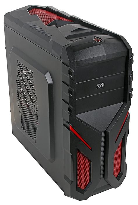 Корпус для компьютера 3Cott 3C-ATX136G 700W, Black