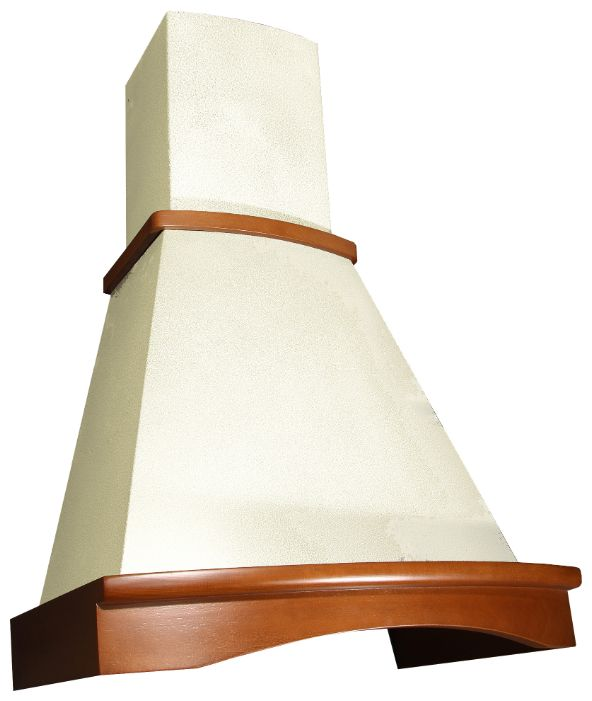 Вытяжка каминная Elikor Ротонда 650 60 золотой антик / бук light brown Ротонда 60 зол.антик/бук св кор