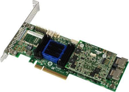 Adaptec ASR-6805 (2270100-R) - (SAS / SATA RAID-контроллер (RAID 0, 1, 1E, 5, 5EE, 6, 10, 50, 60); PCI-Express x8; снаружи нет; внутри 8x miniSAS (SFF-8087) • Подкл. устр-ва: 8 с прямым подключением или до 256 устройств с помощью SAS-экспандеров)