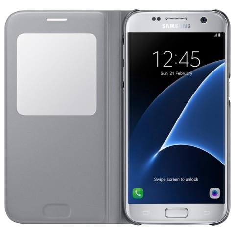 Чехол Samsung для Samsung Galaxy S7 S View Cover silver