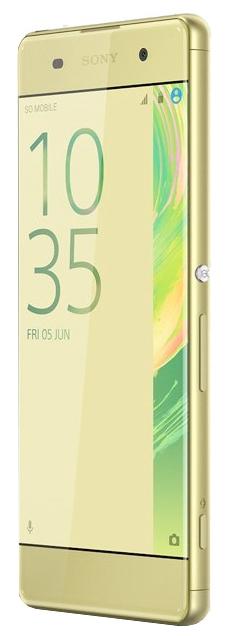Sony Xperia XA Dual, Lime Gold - (; GSM 900/1800/1900, 3G, 4G LTE, LTE-A Cat. 4; SIM-карт 2 (nano SIM); MediaTek Helio P10 (MT6755); RAM 2 Гб; ROM 16 Гб; ; 13 млн пикс., светодиодная вспышка; есть, 8 млн пикс.; датчики - приближения)