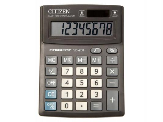 Калькулятор Citizen Correct SD-208 чёрный