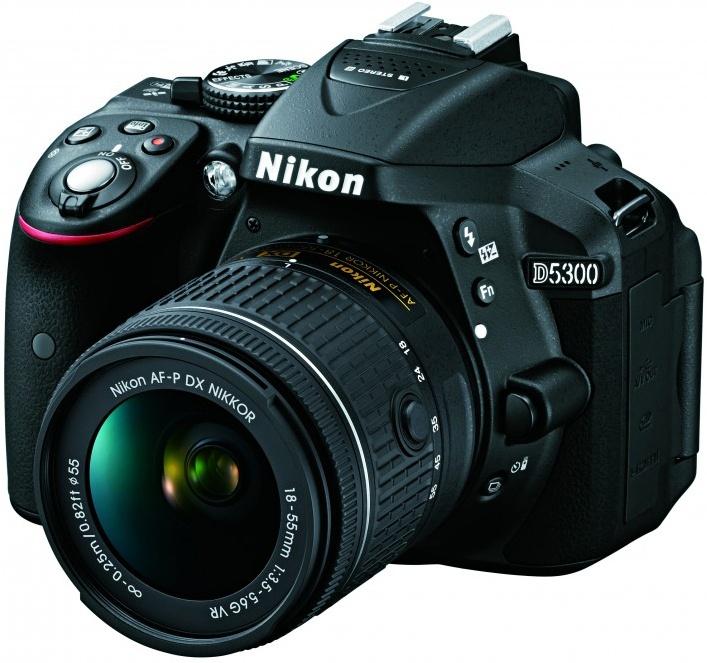 Nikon D5300 KIT AF-P DX 18-55mm VR, black - (24.78 млн, 1920x1080, 5 кадр./сек, ЖК-экран: поворотный, 1036800 точек, 3 дюйма)