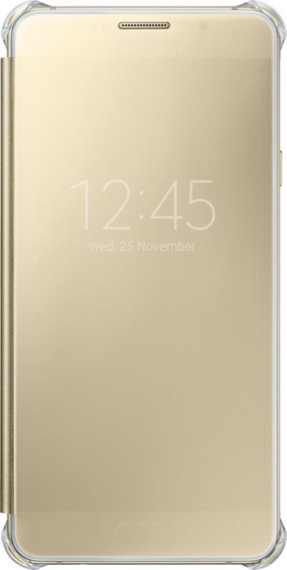 ����� Samsung ��� Samsung Galaxy A7 (2016) Clear View Cover, golden