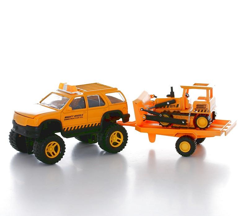 Машинка Soma строительная техника внедорожник + бульдозер