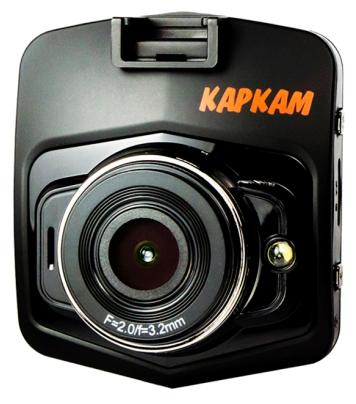 """Каркам T1 - (с камерой, с экраном; 1920x1080 при 30 к/с; каналов в/а - 1/1; 140° (по диагонали); ночной режим есть; microSD (microSDHC) до 32 Гб; Экран 2.31""""; GPS-модуль нет)"""